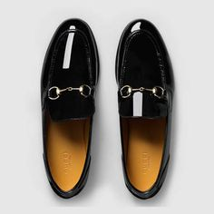Patent leather horsebit loafer