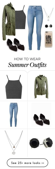 """""""Possibly a school outfit? """" by allisonssecret on Polyvore featuring moda, 7 For All Mankind, Topshop, Aéropostale, Nly Shoes, Kenneth Cole y Casetify"""