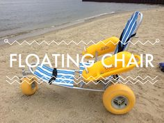 Beach wheelchair rental for the Panama City Beach, Destin & area of Florida. Rent a motorized Beach Cruiser Floating Chair, Floating In Water, Handicap Bathroom, Pediatric Physical Therapy, Wheelchair Accessories, New Inventions, Panama City Panama, Beach Chairs, Beach Bum