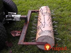 DIY Lawn Aerator DIY projects for everyone! is part of Diy lawn - Backyard Projects, Outdoor Projects, Garden Projects, Garden Tools, Farm Tools, Yard Care, Lawn Maintenance, Lawn And Garden, Backyard Landscaping