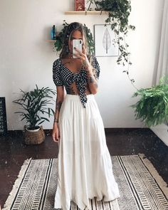 Mode Outfits, Trendy Outfits, Girl Outfits, Fashion Outfits, Look Hippie Chic, Look Boho, Spring Summer Fashion, Spring Outfits, Pijamas Women