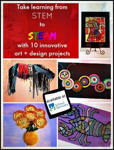 10 Innovative Projects That Take Learning From STEM to STEAM 10 fun STEAM design projects to try in your classroom today! STEAM is STEM with a connection to art. The kids love it when they can express their learning with art. Stem Projects, Art Projects, Design Projects, Project Ideas, Steam Education, Art Education, Stem Science, Science Art, Steam Activities