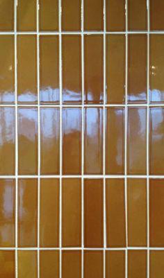 Heath Ceramics,, 3×6 brown Heath Ceramics Tile, Heath Tile, Tiles, Tapestry, Brown, Inspiration, Caramel, Kitchens, Surface
