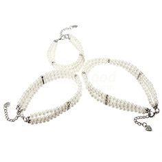 Fashionable Pet 3 Rows Pearls Jewelry Necklace Collar