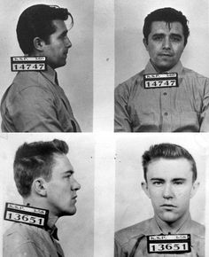 """Dick Hickock & Perry Smith- Clutter murderers. (""""In Cold Blood""""  that we read in English class, period 6.)"""