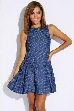 Denim Polka Dot Dress https://www.etsy.com/shop/CocosCollection88?ref=si_shop