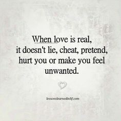 Lessons Learned in Life | When love is real.