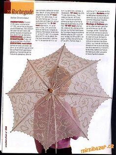 háčkovaný deštník