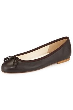 French Sole Crystal Leather Ballet Flat, $149; lastcall.com     - ELLE.com
