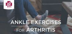 These range of motion exercises will improve mobility and strength and reduce arthritis pain in your ankles. Ankle Exercises, Arthritis Exercises, Bone And Joint, Bone Health, Clinic, Healthy Living, Strength, Muscle, Range