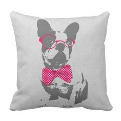 Cute humorous fashionable classic animal French bulldog Throw Pillow. >>> See more at the image link