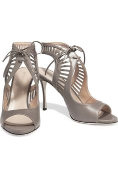 Sergio Rossi lace-up leather sandals