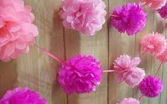 Resultado de imagen de centros de mesa con flores de papel