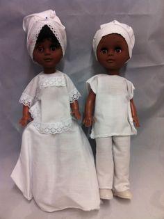 doll twins | ibeji twin dolls one pair of ibeji twin dolls plastic dolls with cloth ...