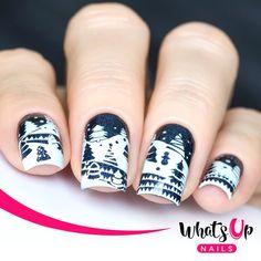 Holiday Snowfall Stamping Plate For Christmas Stamped Nail Art Design Shellac Nails, Diy Nails, Nail Polish, Manicures, Burgendy Nails, Oxblood Nails, Magenta Nails, Maroon Nails, Finger