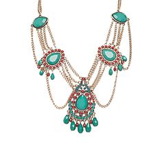 Trendy, Chic and Cute Stone & Chain Statement Necklace