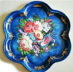 Tole tray patina and decorative painting