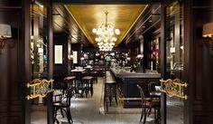 La Societe - Toronto: Yes, I do go to this bistro more than I did grade 9 French class. Restaurant Offers, Cafe Restaurant, Restaurant Design, Restaurant Concept, Restaurant Interiors, Bistro Design, Nordic Interior, Cafe Interior, Interior Design
