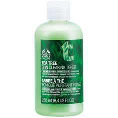 The Body Shop Tea Tree Skin Clearing Toner 8.4 fl oz (250 ml) ($13) ❤ liked on Polyvore featuring beauty products, skincare, face care, face toners, beauty, makeup, fillers, cosmetics and the body shop
