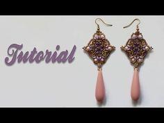 ▶Tutorial Mosque Window Earrings - DIY - Orecchini con cipollotti, superduo e bicono - YouTube