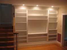 Built In Bookshelf Plans Painted Bookcases Kreg Jig Owners Community