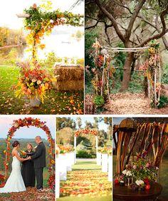 Beautiful fall farm wedding
