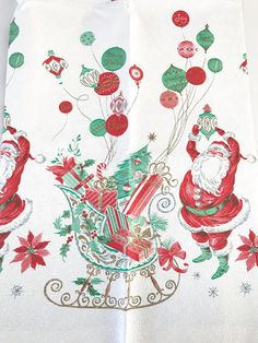 Your place to buy and sell all things handmade Vintage Christmas Images, Retro Christmas, Christmas Love, Plastic Tablecloth, Vintage Tablecloths, Christmas Table Cloth, Christmas Decorations, Old Fashioned Christmas, Merry Little Christmas