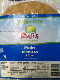 Rudi's Gluten-Free, Dairy Free, Nut Free Tortillas - SO good & they're available at Costco!