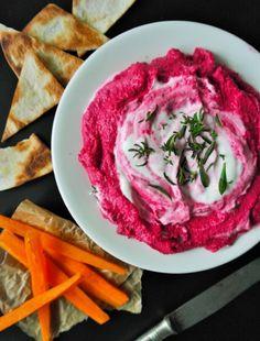 Hummus z červené řepy