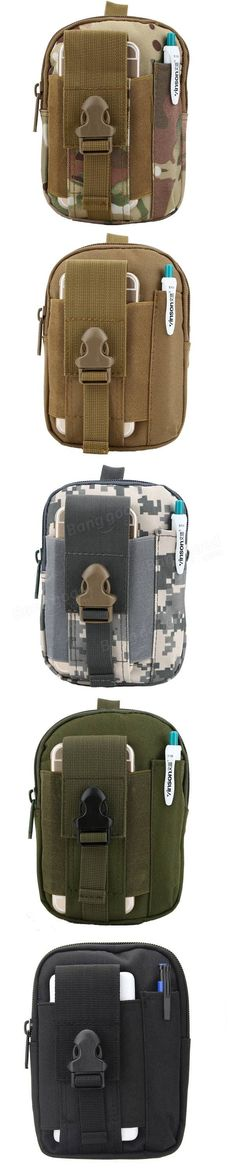 Tactical Military Molle Waist Bag Pack Portable Mini Bag Nylon Phone Wallet For Travel Sports Sale - Banggood.com