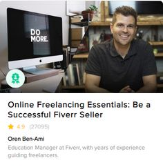 Do you want to know how to grow your career as an online freelancer—and offer outstanding experiences for every customer you work with?  It's no secret that online freelancing is empowering millions to grow their own careers, take control of their schedules, and live better lives—with Fiverr leading the way for so many prolific, talented freelancers.  That's why this course should be your number one choice when growing your business on Fiverr. From how Fiverr works, to creating your Gigs... Lead The Way, You Working, Growing Your Business, Number One, Imagination, Life Is Good, How To Become, Career, Management