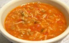 Recette : Soupe riz tomates de dernière minute. Chili Recipes, Soup Recipes, Snack Recipes, Cooking Recipes, Recipies, Drink Recipe Book, Clean Eating Soup, Ricardo Recipe, Soup Appetizers