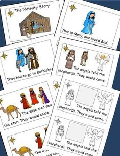 Christmas Activities Freebie, The Nativity Story Emergent Reader,Christmas Story