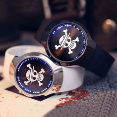 >> Click to Buy << Cool Couples 2 Colors Touch Screen LED Wrist Watch Brand New Skull Dial Pattern 2017 Men Women Sport Watch W153704 #Affiliate