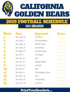 439 Best Printable College Football Schedules Images In 2019