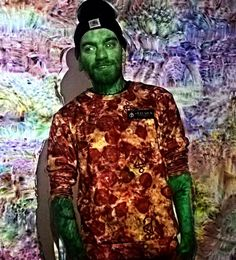 #hey @nasty_lc @matthias_odysseus  #you #wanna #pizza #for #your #sick #trip #with #littlebit #green ?! :P #love #googledeepdream @google_deep_dream @dreamscopeapp #deepdream #fazinating #me  #staysick #clothing #beatdown #hardcore by self_eater