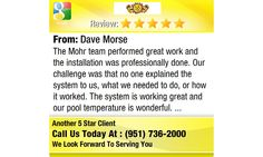 The Mohr team performed great work and the installation was professionally done. Our...