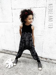 Alley cat romper ♥ Needle and Ted #alleycatromper #harempants