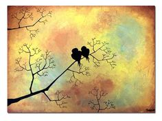 """Happy Love Birds"" Painting Art Print by Shanna"