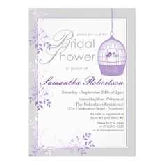 ReviewLove Birds Lilac Bridal Shower Invitationsyou will get best price offer lowest prices or diccount coupone