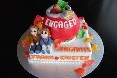 Engaged  Cake by RazzberryCakes