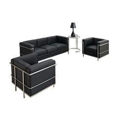 Modway EEI-881 Furniture Charles Petite 4 Piece Sofa Set in Black