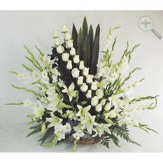Floreria - Flores Elegantes de Mexico arreglo gladiolas y rosas