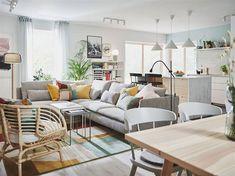 IKEA - Κατάλογος 2021 Living Room Paint, Home Living Room, Living Room Decor, Sofa Kivik, Canapé Convertible Design, Catalogue Ikea, Simple Living Room, Small Living, Living Room Trends