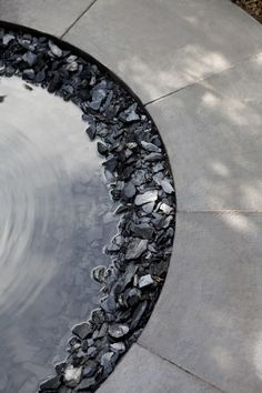 nice use of different stone types/textures Water mirror. studiogblog.com