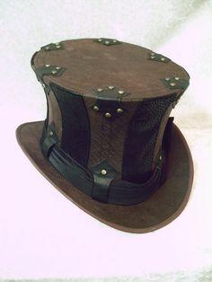 Striped Steampunk Top Hat $135.00