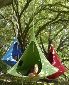 I'd totally go camping more if I had a travel camping hammock