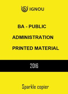 BA - Public Administration printed material