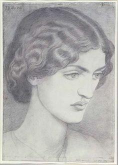 Jane Morris, 1857 Artist: Dante Charles Gabriel Rossetti