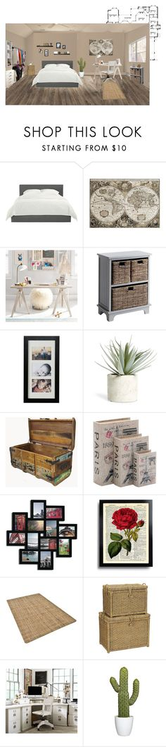 """""""Neutral space"""" by khammy ❤ liked on Polyvore featuring PBteen, Pier 1 Imports, Southern Enterprises, Allstate Floral, WALL, Home Decorators Collection, Adeco, Improvements and Pottery Barn"""